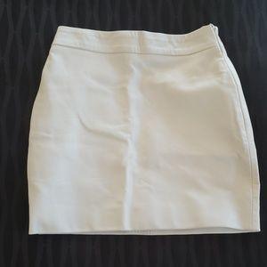 ❤️White LEATHER mini skirt